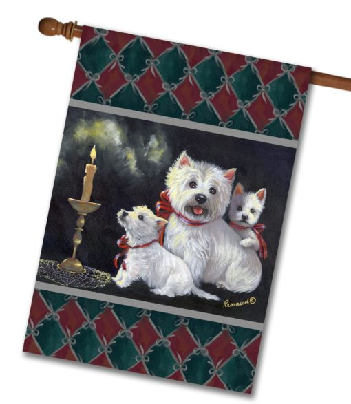 West Highland Terrier Aglow - House Flag - 28'' x 40''