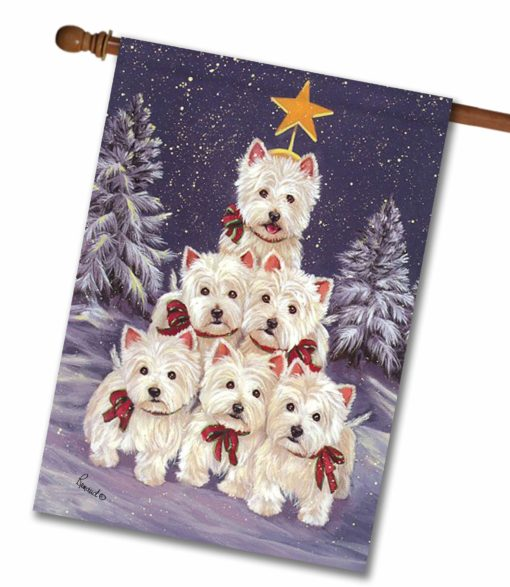 West Highland Terrier Family Tree - House Flag - 28'' x 40''