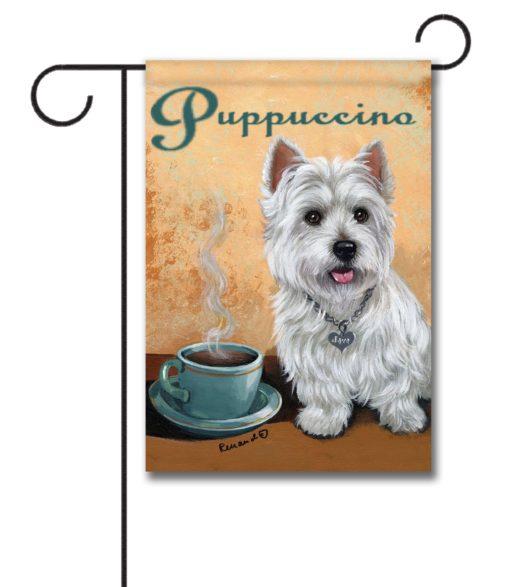 Puppuccino - Garden Flag - 12.5'' x 18''