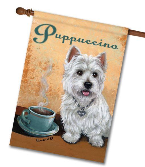 Puppuccino - House Flag - 28'' x 40''