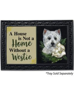 West Highland Terrier White On White House Not a Home Doormat