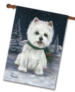 West Highland Terrier Snow Bunny - House Flag - 28'' x 40''
