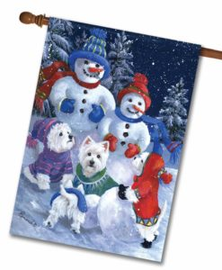 West Highland Terrier Snowballs - House Flag - 28'' x 40''
